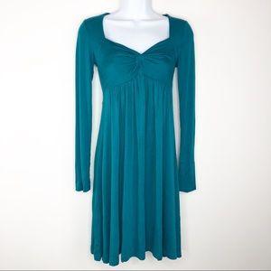 ☀️ Long Sleeve Teal Dress